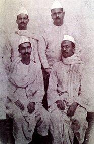 Deshratna Dr. Rajendra Prasad and Bihar Vibhuti Anugrah Narayan Sinha during Mahatma Gandhi's 1917 Champaran Satyagraha